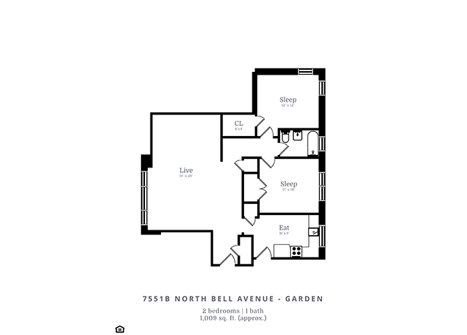 2 Bedrooms 1 Bathroom Apartment for rent at 7539-53 N. Bell Ave. in Chicago, IL