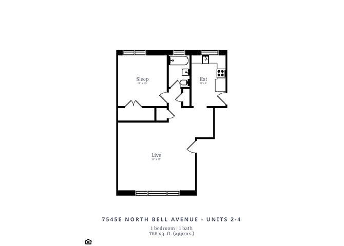1 Bedroom 1 Bathroom Apartment for rent at 7539-53 N. Bell Ave. in Chicago, IL