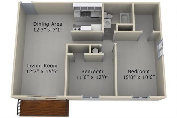 2 Bedrooms 1 Bathroom Apartment for rent at Woodland West in West Des Moines, IA
