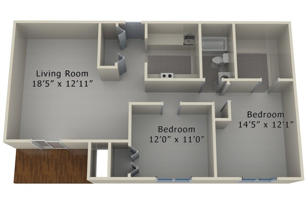 2 Bedrooms 1 Bathroom Apartment for rent at Ingersoll Towers in Des Moines, IA