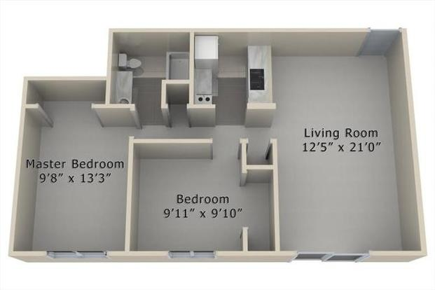 2 Bedrooms 1 Bathroom Apartment for rent at The Village At Westchester in Des Moines, IA