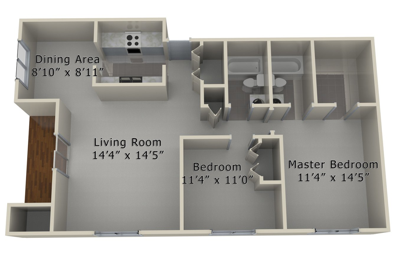 2 Bedrooms 2 Bathrooms Apartment for rent at Ingersoll Towers in Des Moines, IA