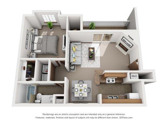 1 Bedroom 1 Bathroom Apartment for rent at Tregaron Oaks in Bellevue, NE