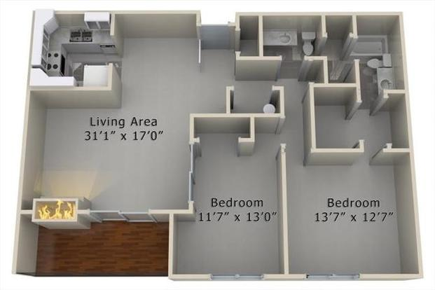 2 Bedrooms 2 Bathrooms Apartment for rent at The Village At Westchester in Des Moines, IA