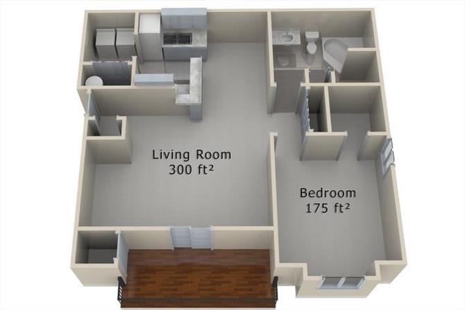 1 Bedroom 1 Bathroom Apartment for rent at Torrey Pines in Omaha, NE