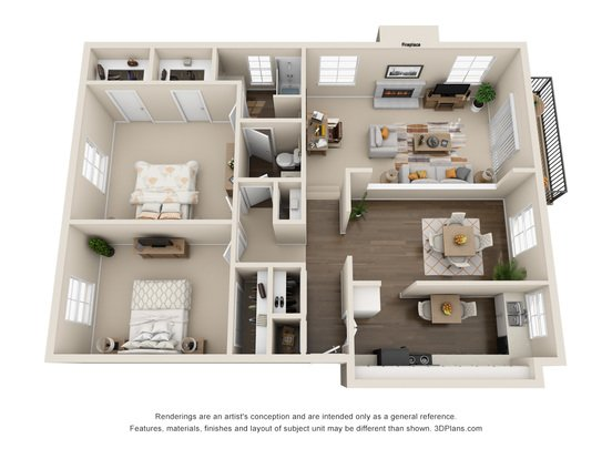 2 Bedrooms 1 Bathroom Apartment for rent at Ridge At Chestnut in Kansas City, MO