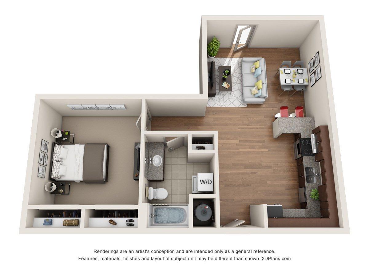 1 Bedroom 2 Bathrooms Apartment for rent at Jones 13 in Omaha, NE