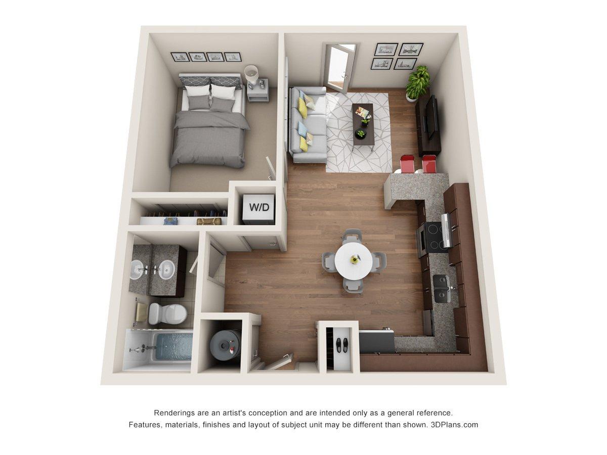 1 Bedroom 1 Bathroom Apartment for rent at Jones 13 in Omaha, NE