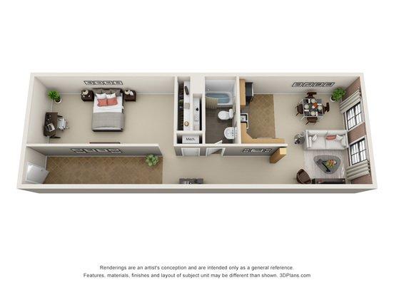 1 Bedroom 1 Bathroom Apartment for rent at L15 Lofts in Omaha, NE