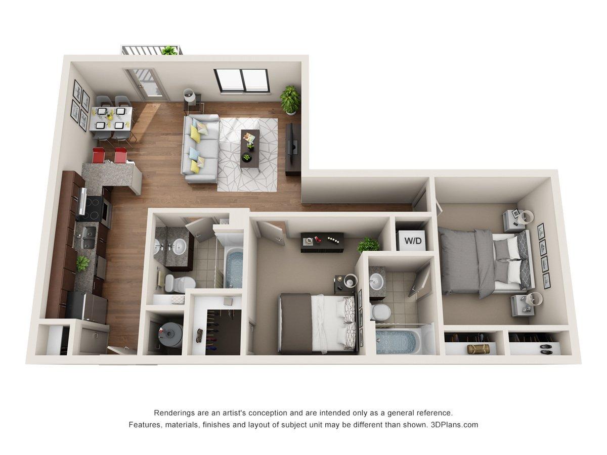 2 Bedrooms 2 Bathrooms Apartment for rent at Jones 13 in Omaha, NE
