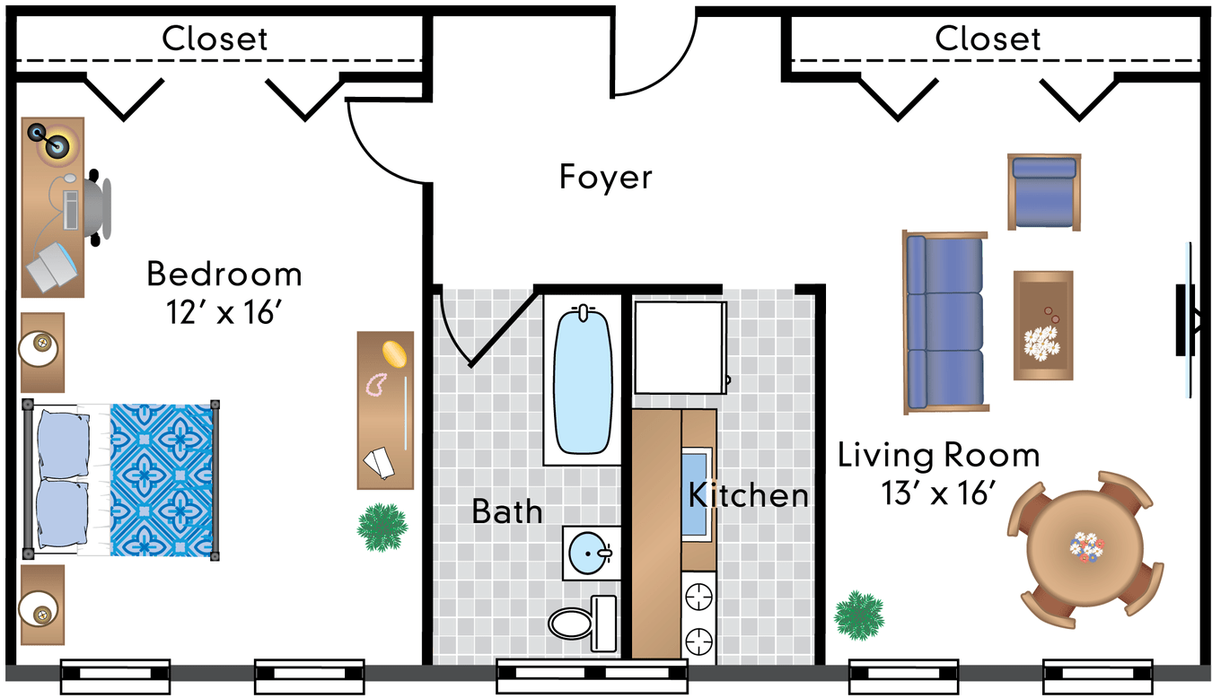 1 Bedroom 1 Bathroom Apartment for rent at The Rodman in Washington, DC