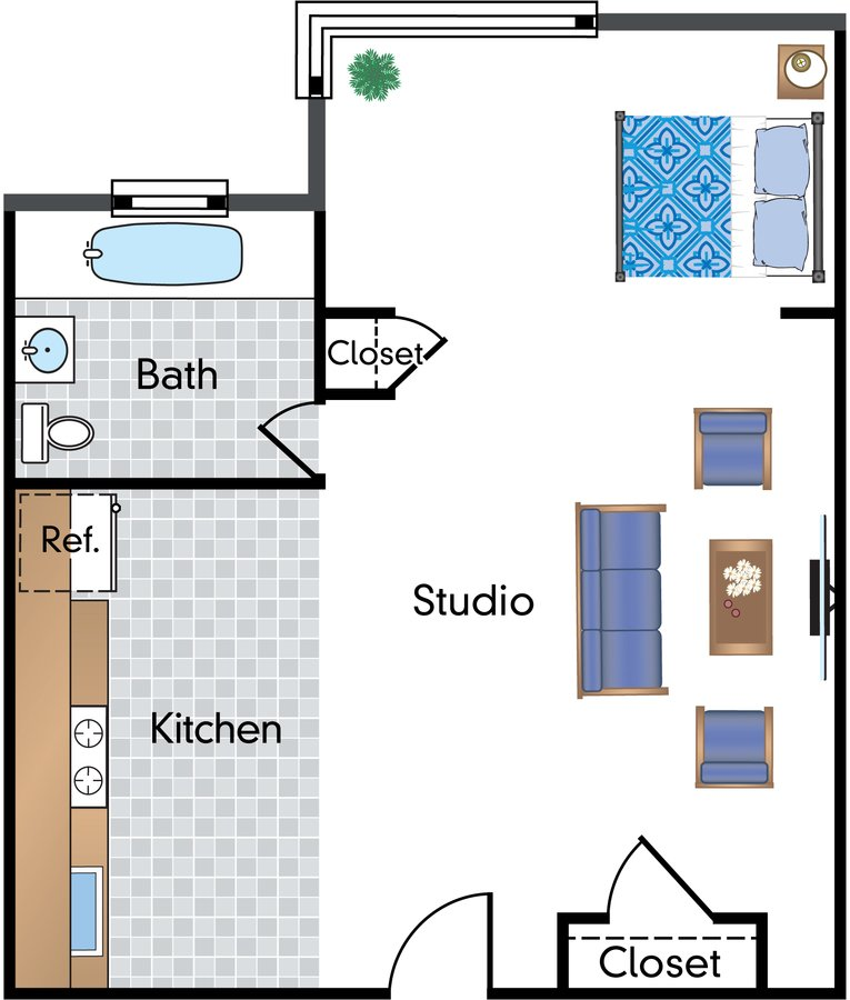 Studio 1 Bathroom Apartment for rent at Sixteen Hundred in Washington, DC