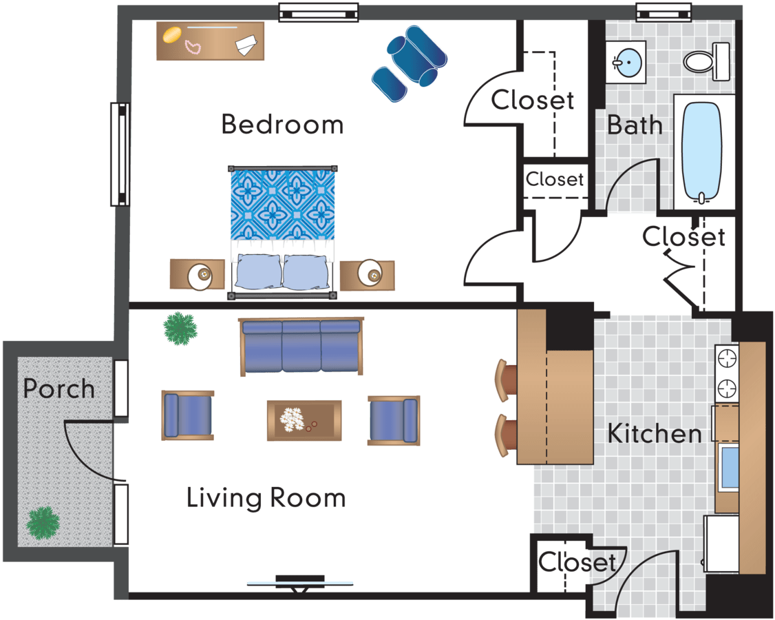 1 Bedroom 1 Bathroom Apartment for rent at The Rodney in Washington, DC