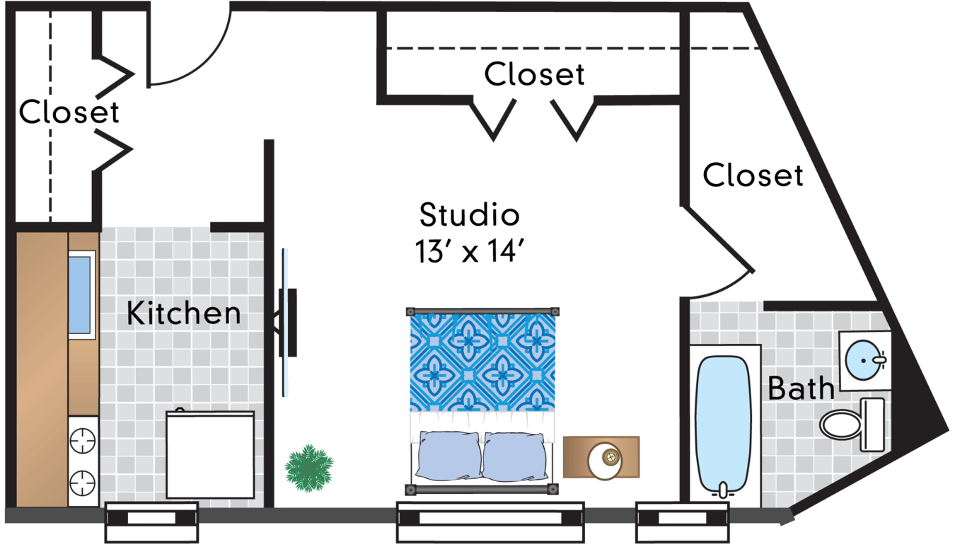 Studio 1 Bathroom Apartment for rent at Sedgwick Gardens in Washington, DC