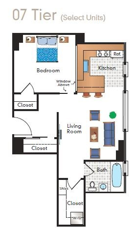 1 Bedroom 1 Bathroom Apartment for rent at Sixteen Hundred in Washington, DC