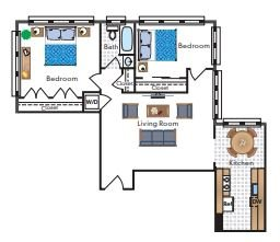 2 Bedrooms 1 Bathroom Apartment for rent at Sedgwick Gardens in Washington, DC