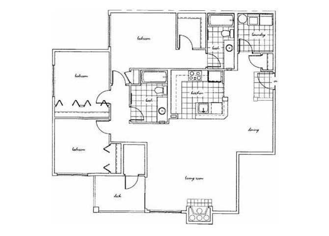 3 Bedrooms 2 Bathrooms Apartment for rent at Bella Vista in Renton, WA