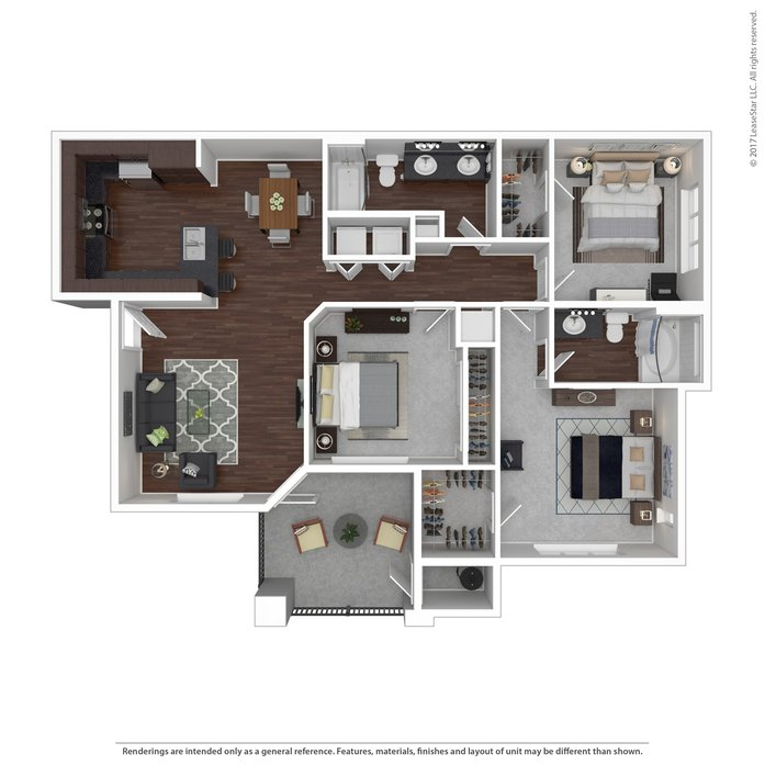 3 Bedrooms 2 Bathrooms Apartment for rent at Metropointe Apartments in Tempe, AZ