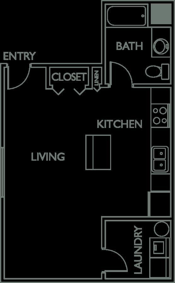 Studio 1 Bathroom Apartment for rent at Metropointe Apartments in Tempe, AZ