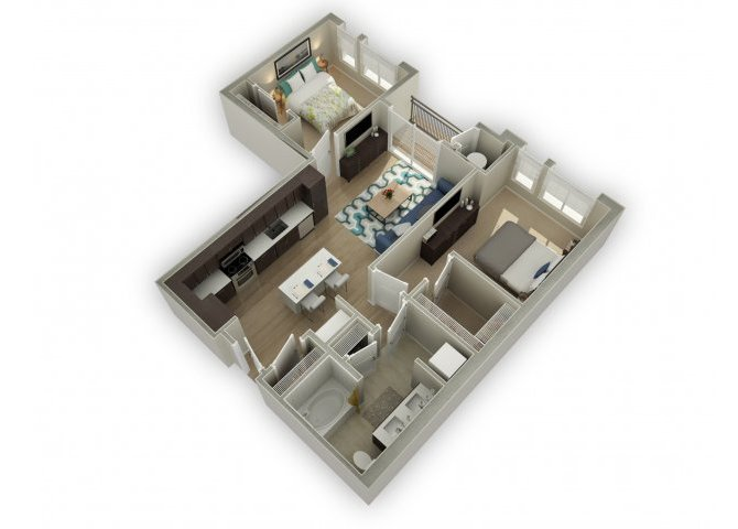 2 Bedrooms 1 Bathroom Apartment for rent at Broadstone On Ninth (9th) in Denver, CO