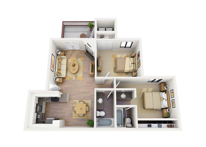 2 Bedrooms 2 Bathrooms Apartment for rent at Del Sol in Scottsdale, AZ