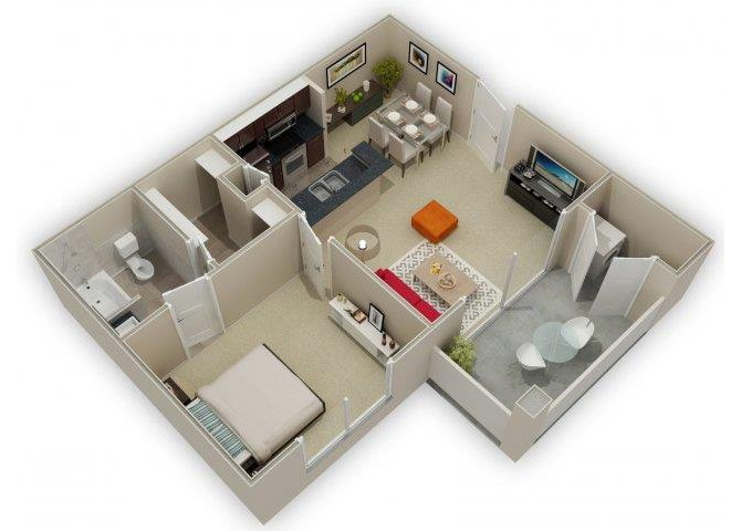 1 Bedroom 1 Bathroom Apartment for rent at Stone Chase in San Antonio, TX