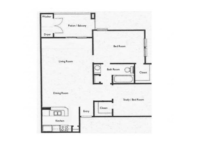2 Bedrooms 1 Bathroom Apartment for rent at Stone Chase in San Antonio, TX