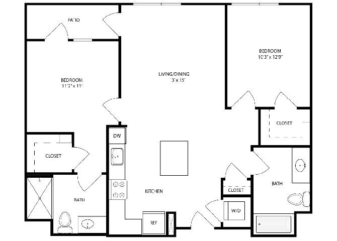 2 Bedrooms 2 Bathrooms Apartment for rent at The Standard (ca) in San Jose, CA