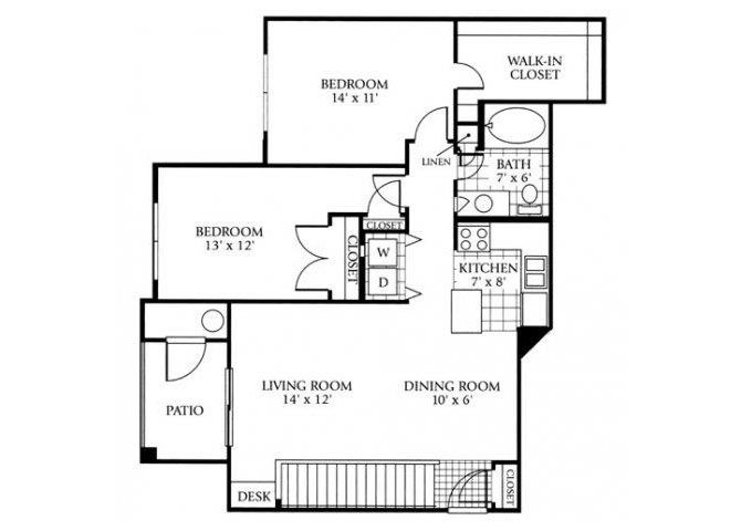 2 Bedrooms 1 Bathroom Apartment for rent at Lowry Park in Denver, CO