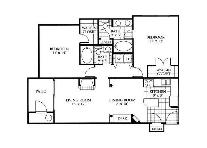 2 Bedrooms 2 Bathrooms Apartment for rent at Lowry Park in Denver, CO