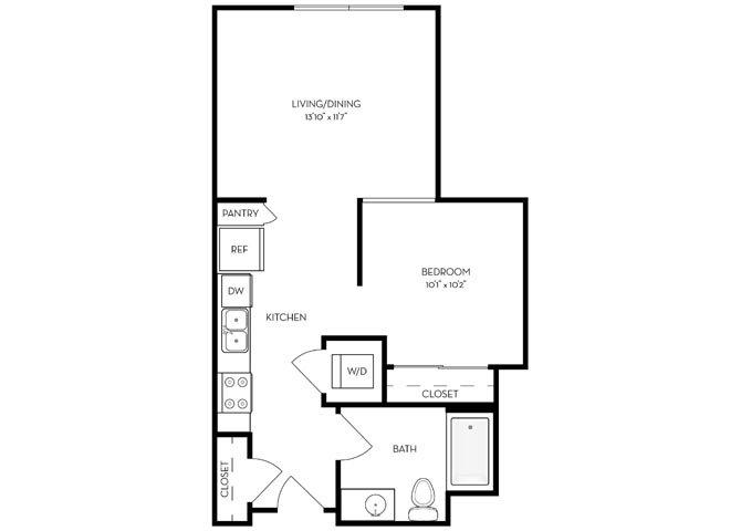 Studio 1 Bathroom Apartment for rent at The Standard (ca) in San Jose, CA