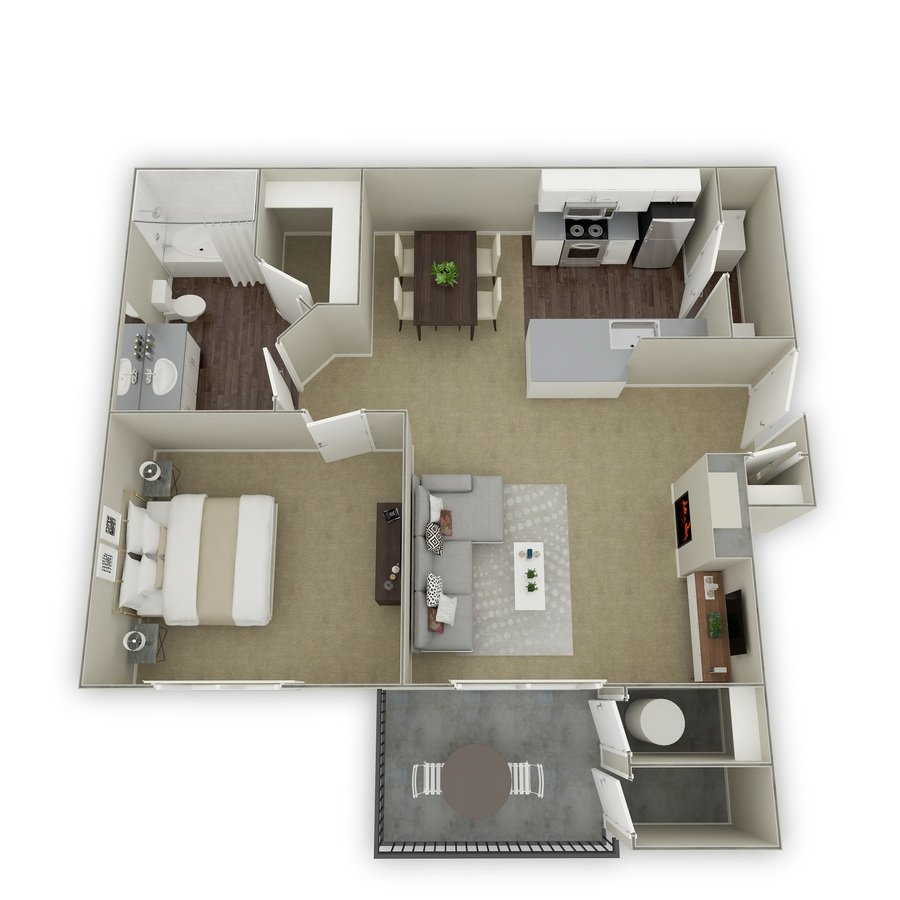 1 Bedroom 1 Bathroom Apartment for rent at Mountain Gate in Littleton, CO