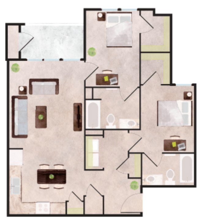 2 Bedrooms 2 Bathrooms Apartment for rent at Aspen Heights in Charlotte, NC
