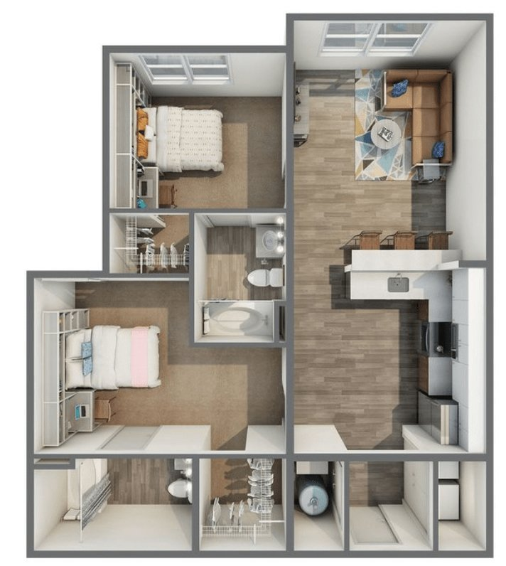 2 Bedrooms 2 Bathrooms Apartment for rent at Haven 49 in Charlotte, NC