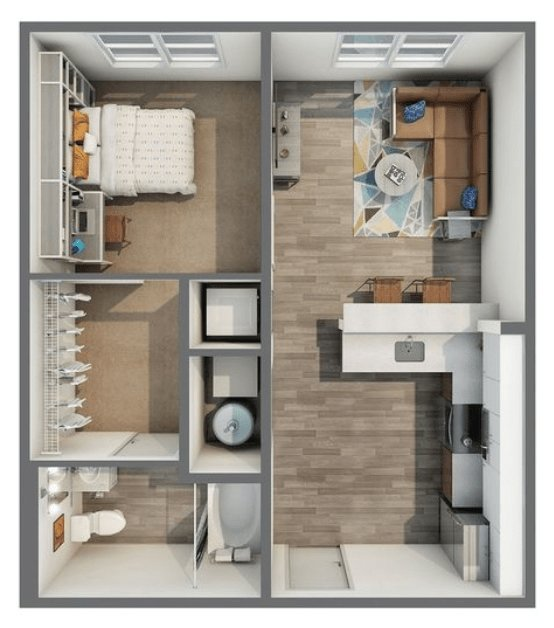 1 Bedroom 1 Bathroom Apartment for rent at Haven 49 in Charlotte, NC