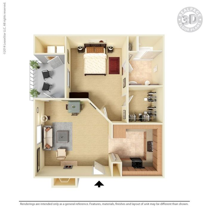 1 Bedroom 1 Bathroom Apartment for rent at Monterra in San Antonio, TX