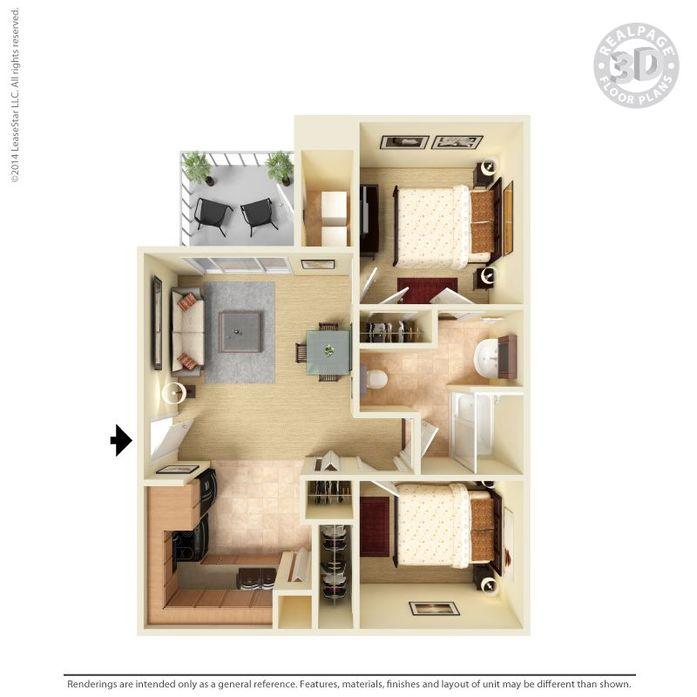 2 Bedrooms 1 Bathroom Apartment for rent at Monterra in San Antonio, TX