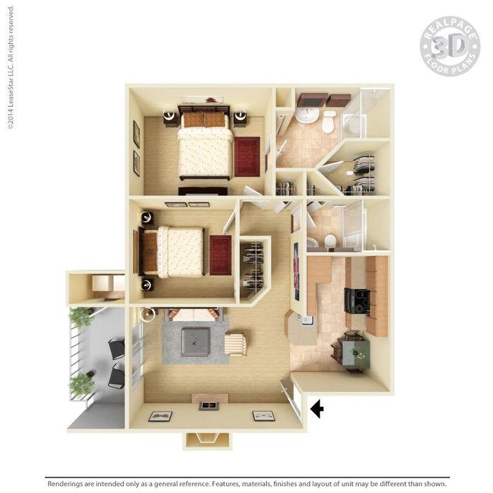 2 Bedrooms 2 Bathrooms Apartment for rent at Monterra in San Antonio, TX