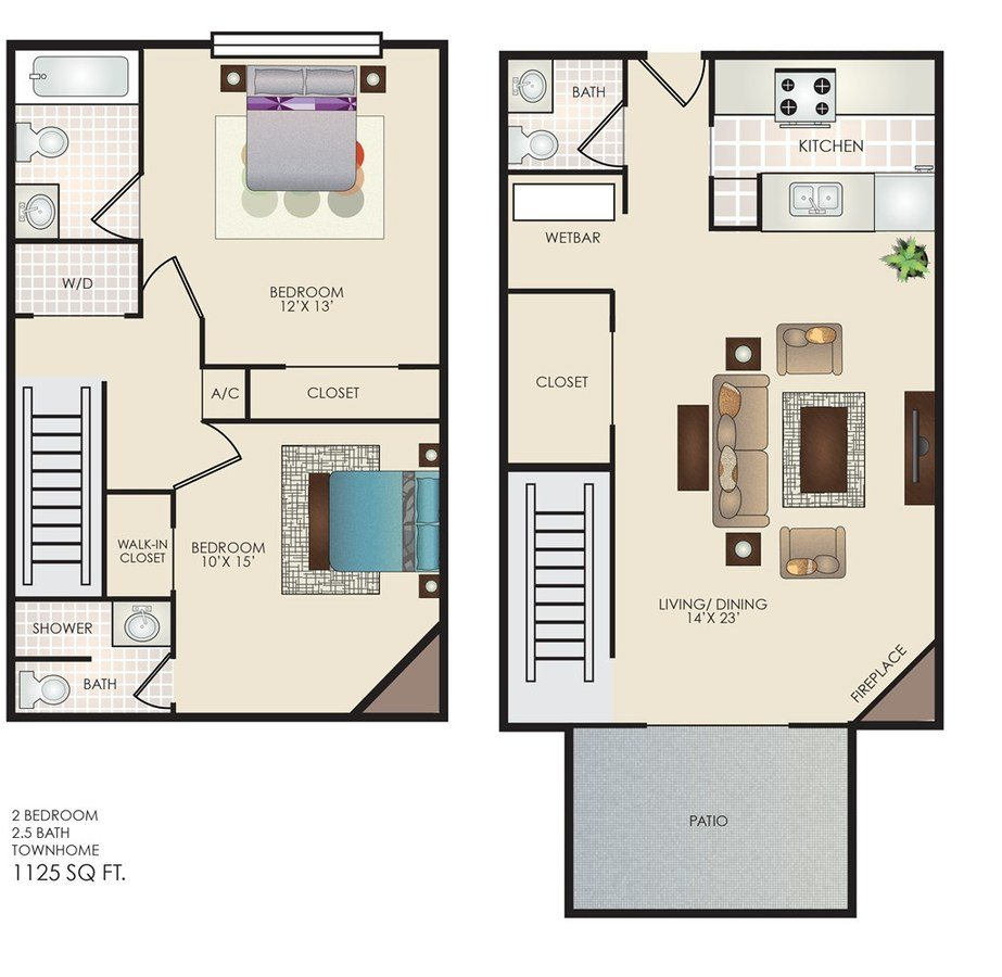 2 Bedrooms 2 Bathrooms Apartment for rent at The Row in San Antonio, TX