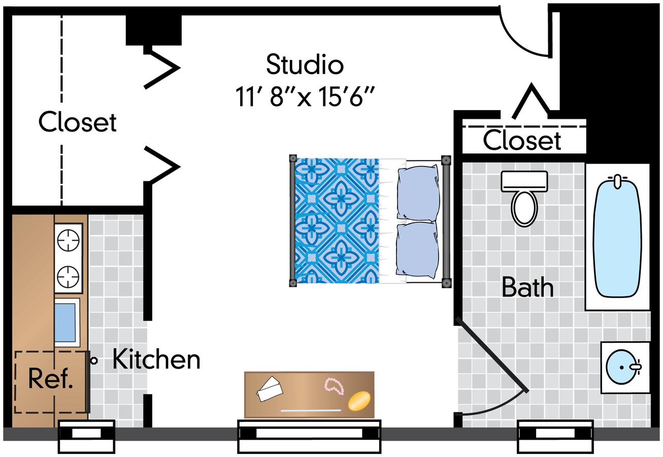 Studio 1 Bathroom Apartment for rent at The Phoenix in Washington, DC
