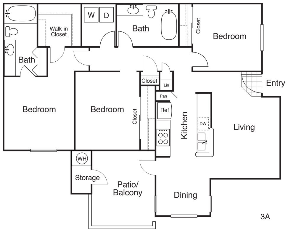 3 Bedrooms 2 Bathrooms Apartment for rent at Park Meadow in Gilbert, AZ