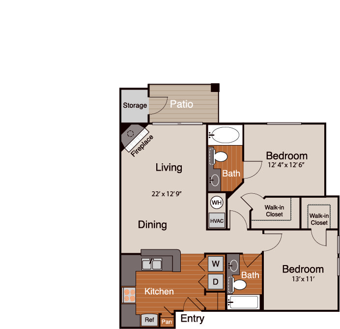 2 Bedrooms 2 Bathrooms Apartment for rent at Addison At Cherry Creek in Denver, CO