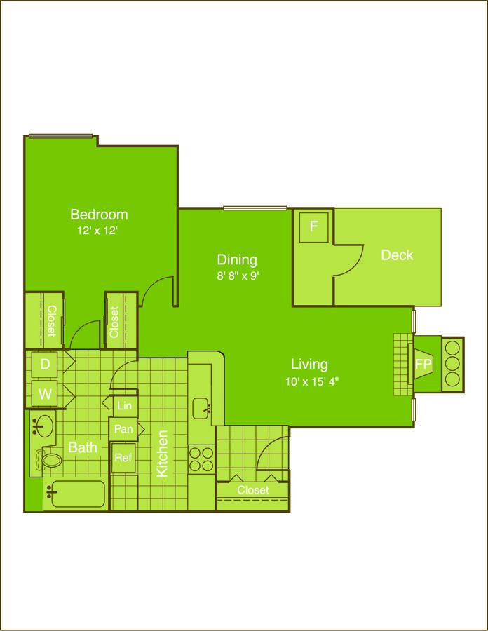 1 Bedroom 1 Bathroom Apartment for rent at Chestnut Ridge in Denver, CO
