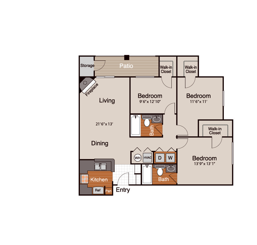 3 Bedrooms 2 Bathrooms Apartment for rent at Addison At Cherry Creek in Denver, CO
