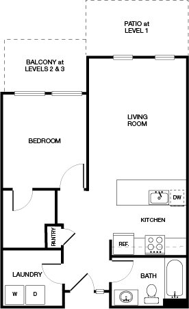 1 Bedroom 1 Bathroom Apartment for rent at Haven Apartments At Orenco Station in Hillsboro, OR
