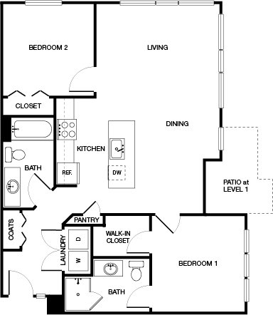 2 Bedrooms 2 Bathrooms Apartment for rent at Haven Apartments At Orenco Station in Hillsboro, OR