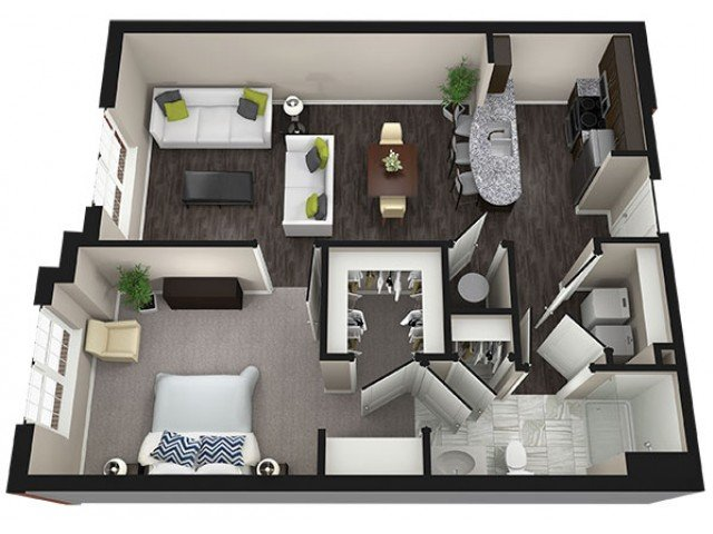 1 Bedroom 1 Bathroom Apartment for rent at Aria Clubhouse in Columbia, MO