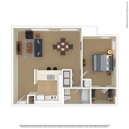 1 Bedroom 1 Bathroom Apartment for rent at Laurel Village in Minneapolis, MN