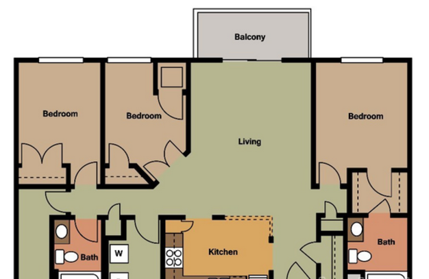 3 Bedrooms 2 Bathrooms Apartment for rent at Arbor Glen Apartments in Maple Grove, MN