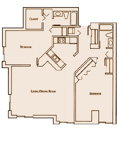 2 Bedrooms 2 Bathrooms Apartment for rent at Hennepin Crossing in Minneapolis, MN